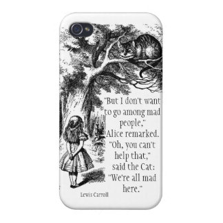 We're All Mad Here iPhone Case Cases For iPhone 4