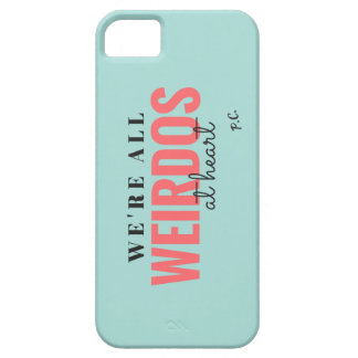 We're All Weirdos At Heart Case (Blue) iPhone 5 Case