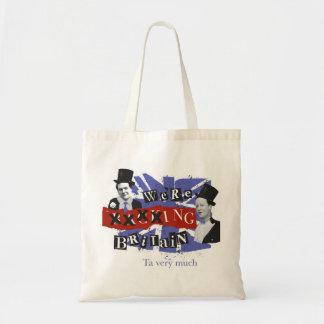 "We're ""Backing Britain"" tote bag"