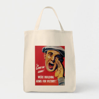 We're Building Arms for Victory! Grocery Tote Bag