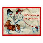 We're Coming For Christmas Postcard