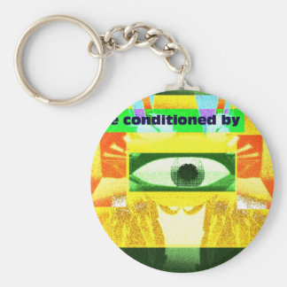 We're conditioned by 2 basic round button key ring