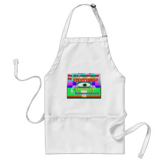 We're conditioned by everything subconsciously standard apron