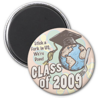 We're Done 2009 Graduation Shirt Gifts Fridge Magnets