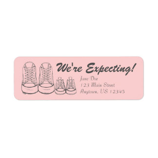 We're Expecting Baby Sneakers Announcement Labels