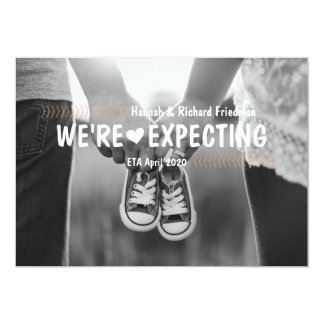 We're Expecting Pregnancy Photo Announcement