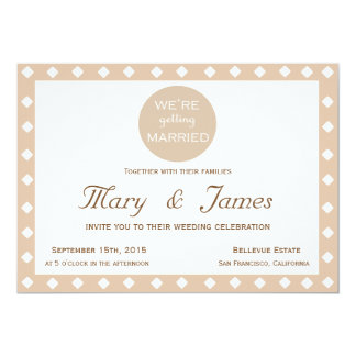 """WE'RE GETTING MARRIED"" (horizontal) 13 Cm X 18 Cm Invitation Card"