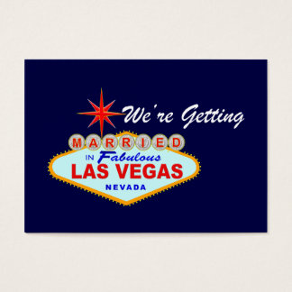 We're Getting Married in Fabulous Las Vegas Card