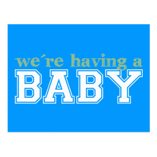 We're Having a Baby! Postcard