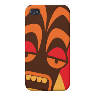 We're having a party TIKI SCREAM mask iPhone 4 Cases