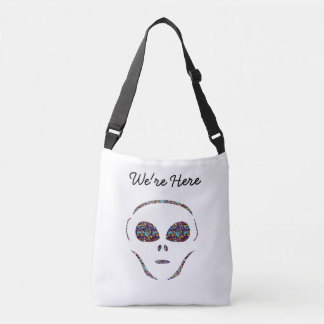 We're Here Alien Tote Bag