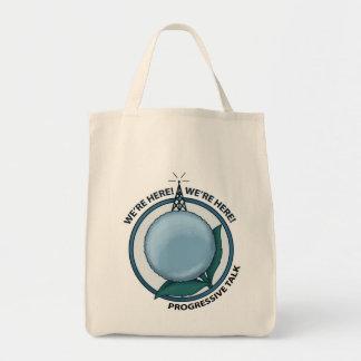 We're here.... we're here Organic Tote Tote Bags