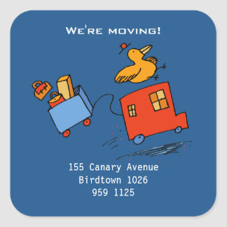 """We're Moving!"" Bird Stickers"