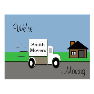 We're Moving/ Moving Truck Scene Postcard