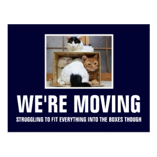 We're moving post cards