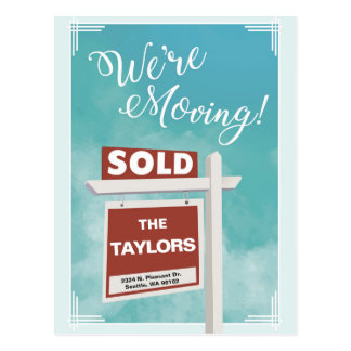 We're Moving Relocation Announcement Postcard