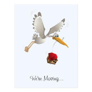 We're Moving Stork! Postcard