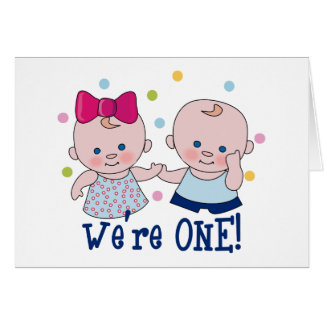 We're One Boy & Girl Card