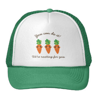 We're Rooting For You Funny Encouraging Carrots Cap