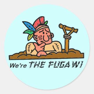We're THE FUGAWI Round Sticker