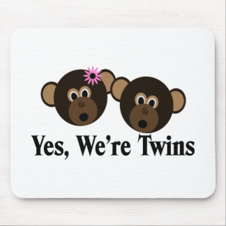 We're Twins 1G1B Monkeys Mousepads