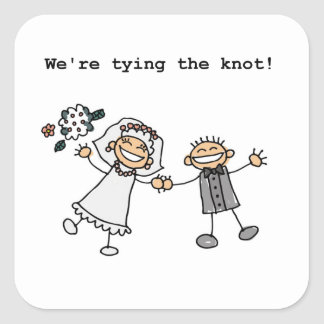 We're Tying the Knot Square Sticker