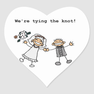 We're Tying the Knot Heart Sticker