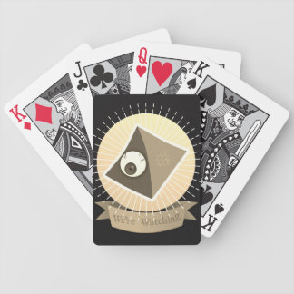 We're Watching Bicycle Playing Cards