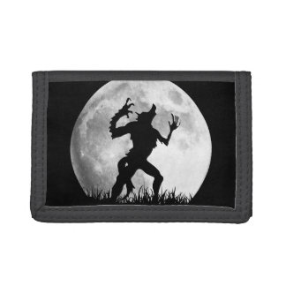 Werewolf at the Full Moon - Cool Halloween Trifold Wallets