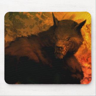Werewolf bust mouse mat