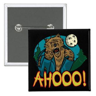 Werewolf Button Pin
