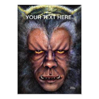 Werewolf Curse 13 Cm X 18 Cm Invitation Card