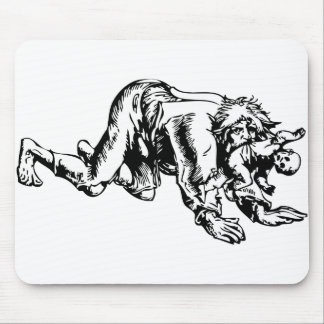Werewolf Eating Baby Mouse Pad