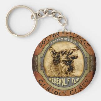 Werewolf Fur Basic Round Button Key Ring