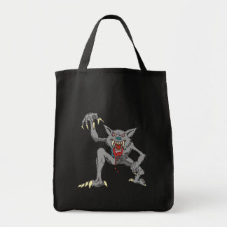 Werewolf Grocery Tote Grocery Tote Bag