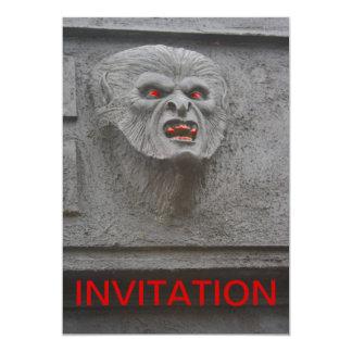 Werewolf Horror Character Invitation