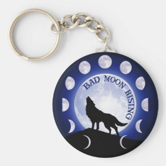 Werewolf Key Ring Basic Round Button Key Ring
