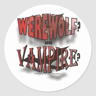 WEREWOLF OR VAMPIRE STICKERS