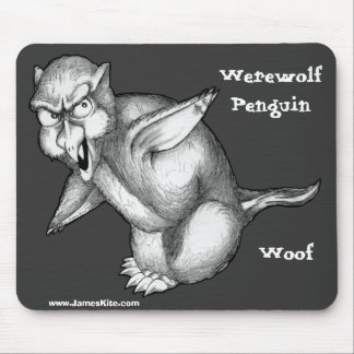 Werewolf Penguin: Woof Mouse Pad