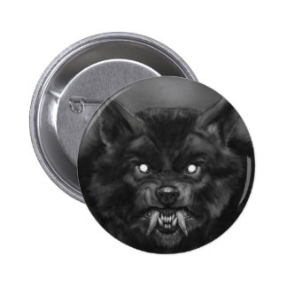 Werewolf Pin/Button 6 Cm Round Badge