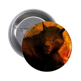 Werewolf Pin/Button 6 Cm Round Badge