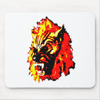 Werewolf Red, Yellow, Black Mouse Pad