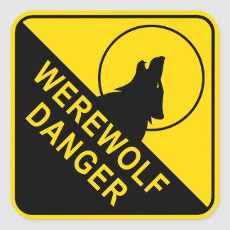 Werewolf Square Sticker