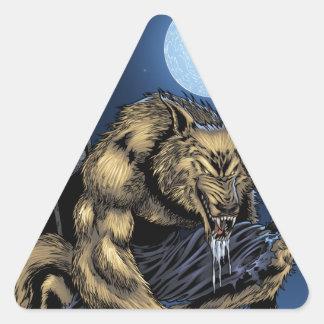 Werewolf Triangle Sticker