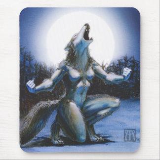 Werewolf Woman Mousepad