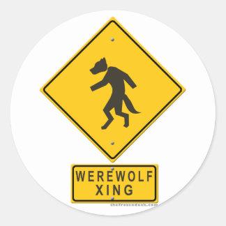 Werewolf XING Classic Round Sticker
