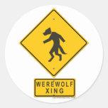 Werewolf XING Round Sticker