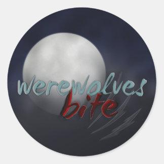 """Werewolves Bite"" sticker sheet"