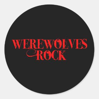Werewolves Rock Round Sticker