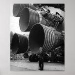 Werner von Bran and the Saturn V rocket